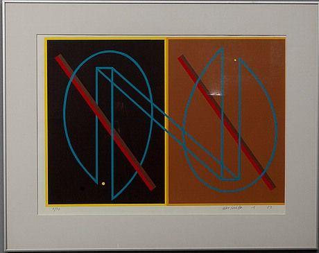 Kari Huhtamo: Sommitelma, 1982, litografia, 46x66 cm, 7/30 - Bukowskis