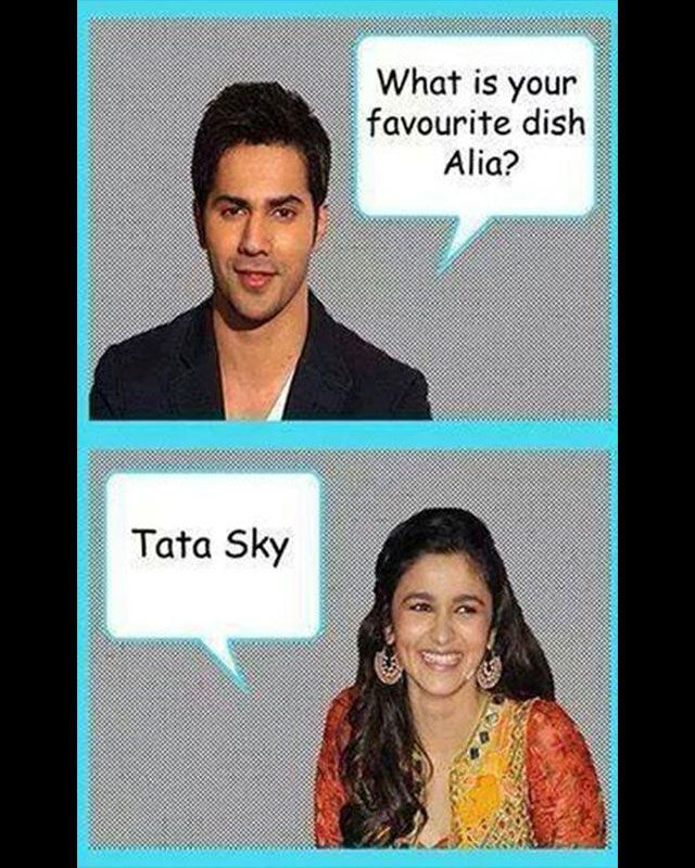 Alia definitely likes her 'dish', unfortunately she doesn't know the difference!