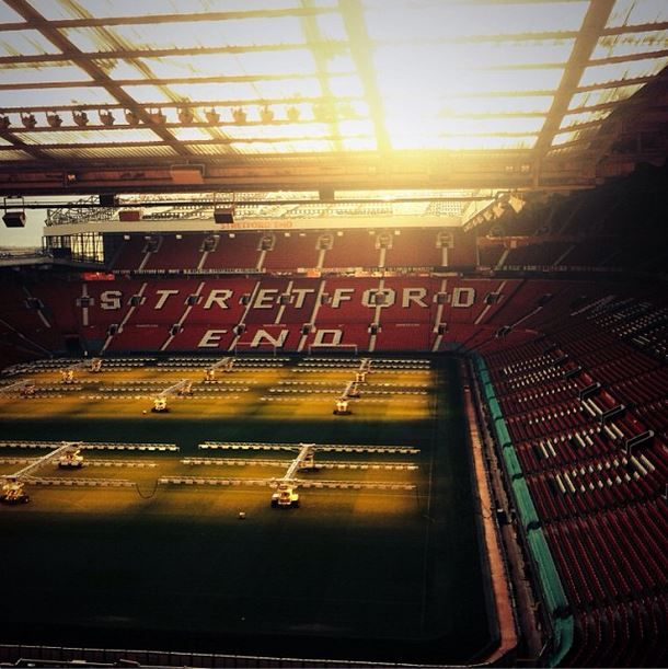Watch a live soccer game in Old Trafford