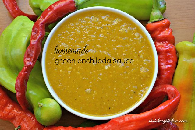 Homemade Green Enchilada Sauce - easy, healthy and so delicious - 8 Servings