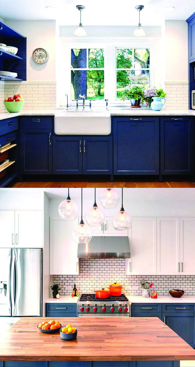 Leading Fad In Kitchen Cabinetry Style Blue Kitchen Cabinets