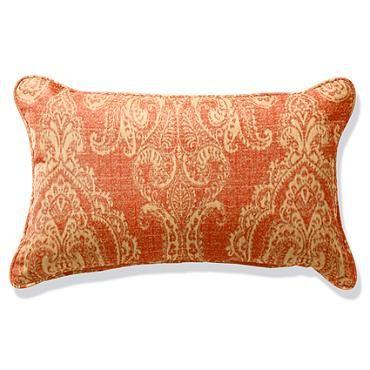 outdoor lumbar pillow with cording sunbrella fabric bordeaux linen sangria