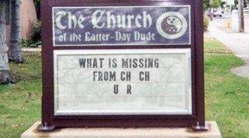 Funny Church Bulletin Announcements And Church Signs + A Free Online Church Sign Maker!