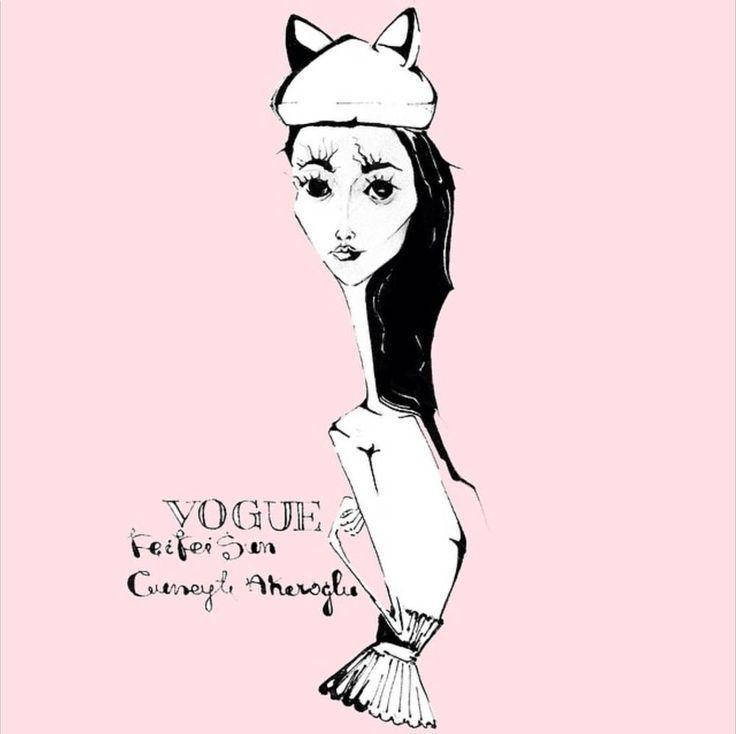 feifeisun,fashion illustration by Tio Torosyan