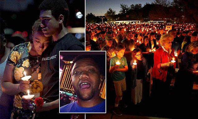Emotional vigil for Las Vegas cop killed in mass shooting | Daily Mail Online
