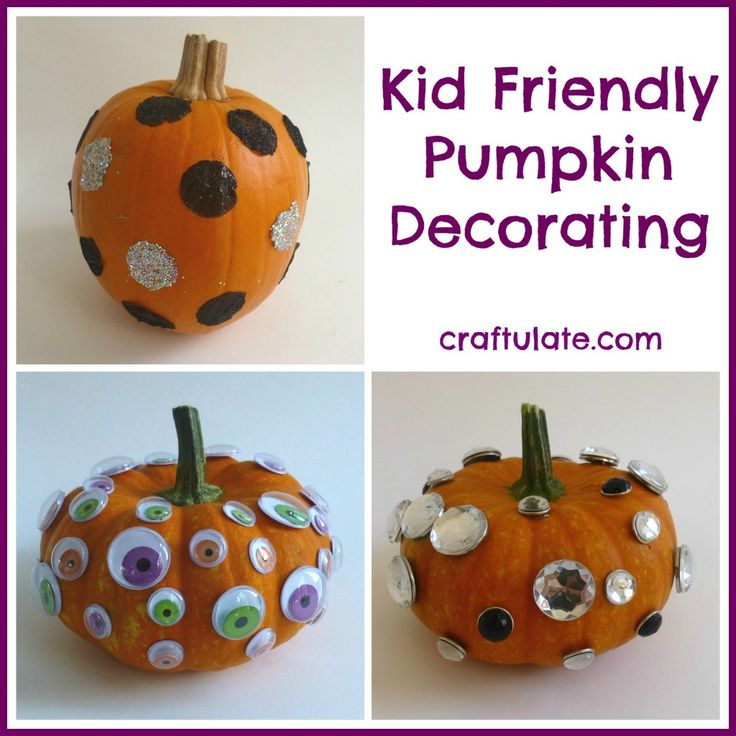 Kid friendly pumpkin decorating and