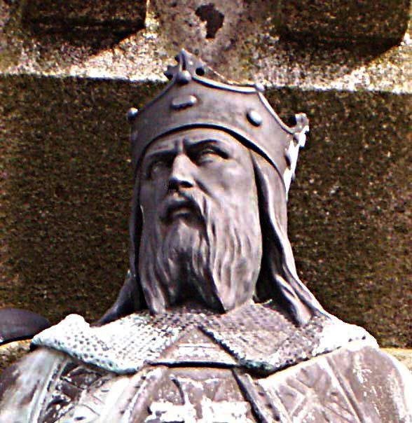"Robert, first Duke of Normandy, and father of William the Conqueror. Robert was a direct descendant of the Viking who ""founded"" Normandy. Interesting that Harold, the last Anglo-Saxon king, was threatened in the north by a Viking army and in the south by William the Conqueror's invasion force. So he was actually fighting to retain the throne the England against two separate Viking groups."
