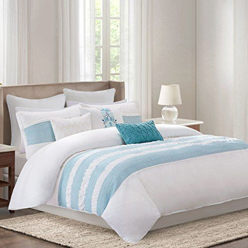 Echo Bedding Crete Comforter Set Full Teal ** For more information, visit image link.