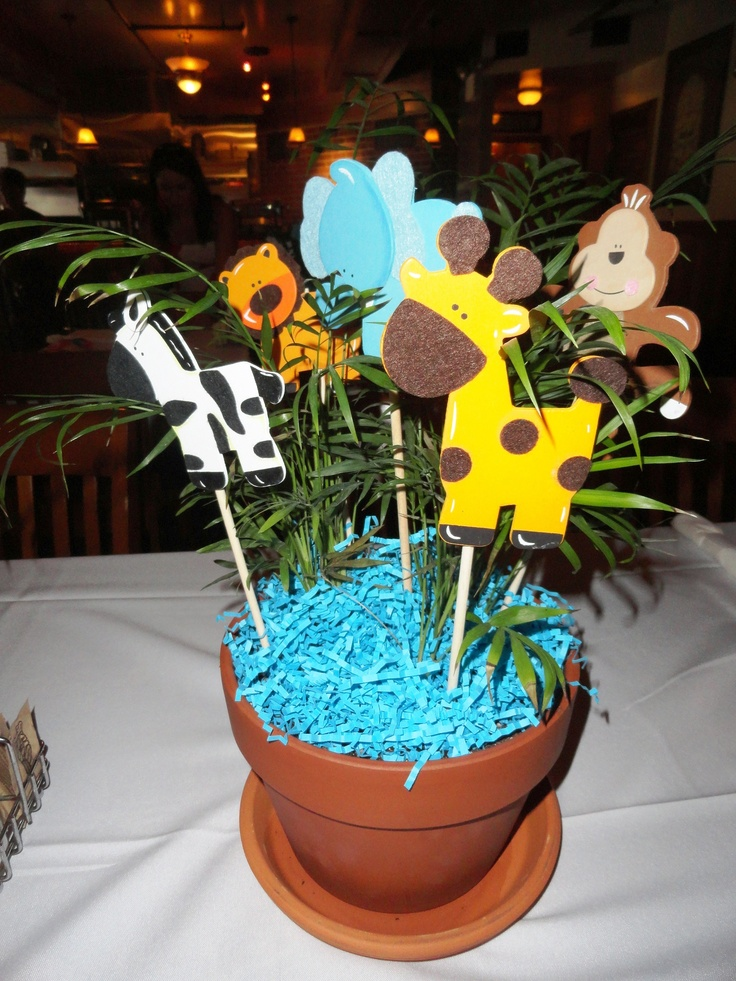 76 best images about party ideas on pinterest jungle for Baby shower party junge