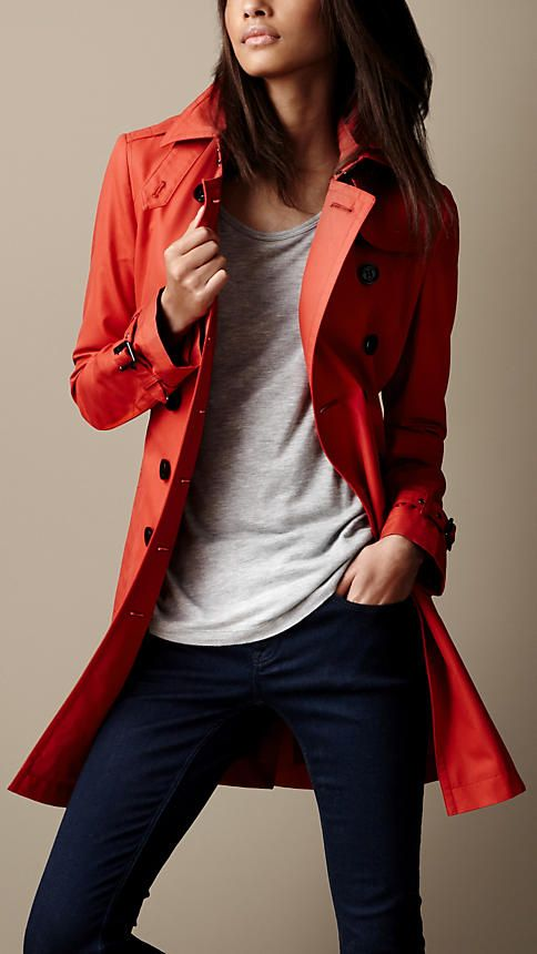 Burberry rain wear...love the style but not the price...try a Banana Republic look-a-like that won't break the bank.