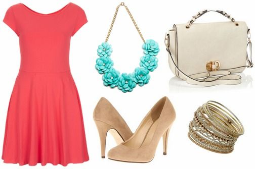 Color Combo to Try: Coral + Turquoise   College Fashion