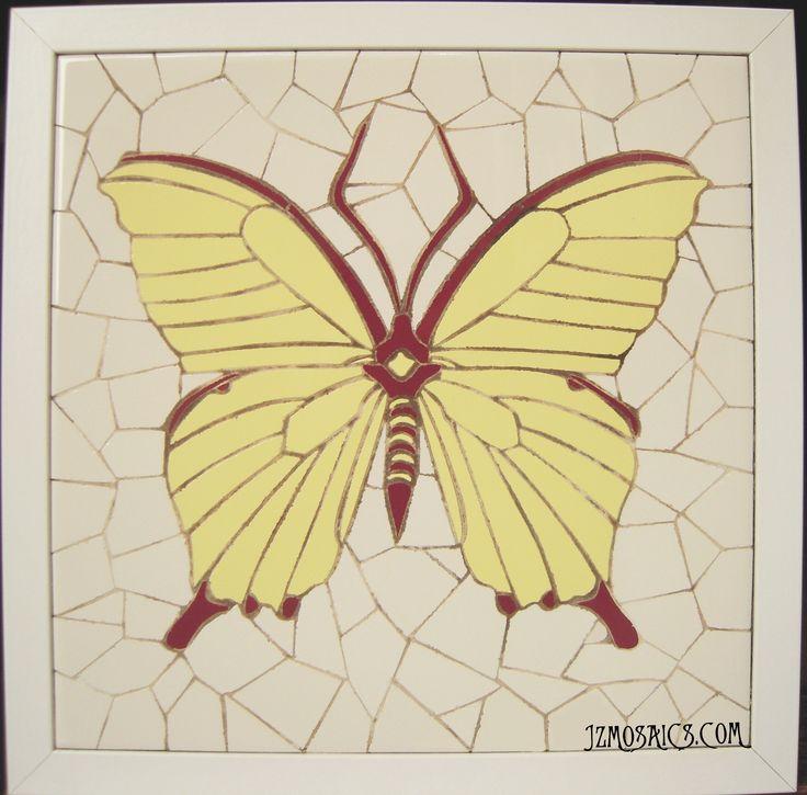 Mosaico en trencadís.  30 x 30 cm). Piezas únicas, trabajadas totalmente a mano.