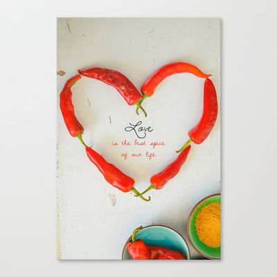 Love is the best spice Stretched Canvas print by Priyanka Nayar