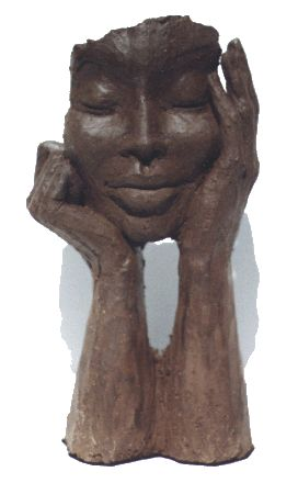 For this mask, I really enjoy the detail of the face as well as the arms supporting the head. With the arms, I am able to interpret the behavior of the art; it adds more character to the piece.