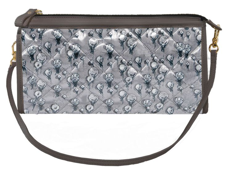 Crystal Clutch All Grey http://federicalunello.com #federicalunello #bags #accessories #handmade #madeinitaly
