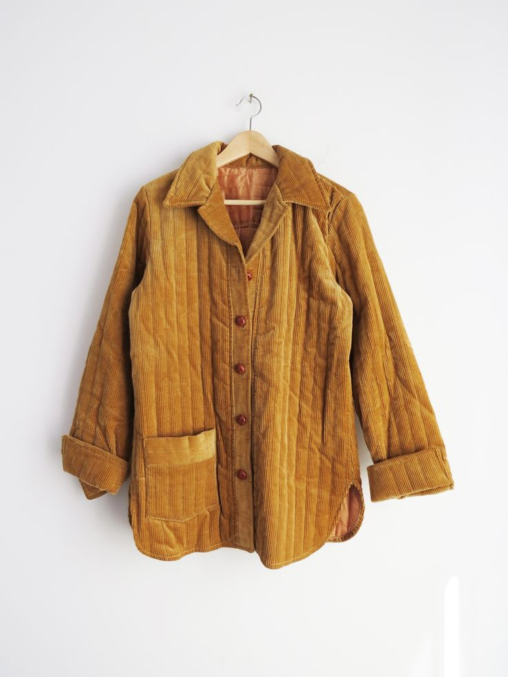Quilted Corduroy Jacket // 1970's Corduroy Jacket SOLD