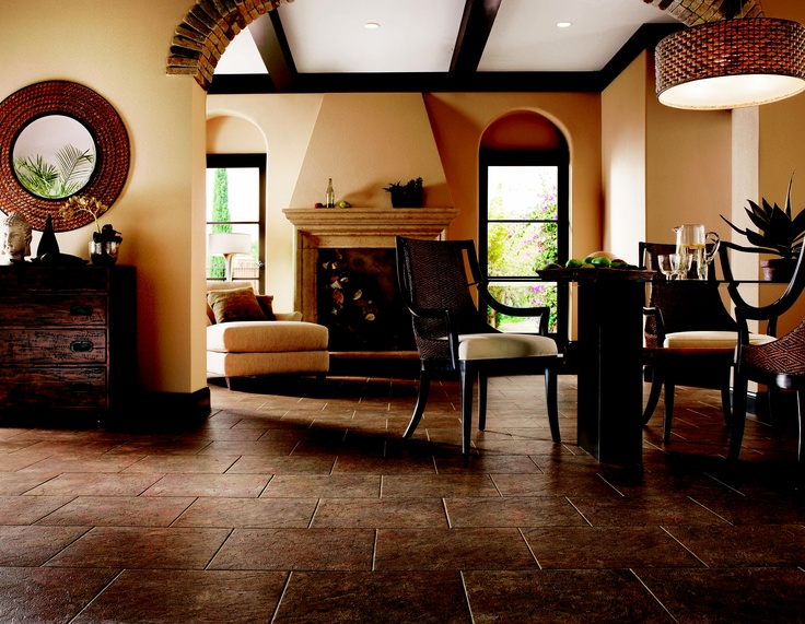 Vinyl durability with the #classic polished look of old world #tile. Its easy to install, and gorgeous! Alterna Armstrong LVT