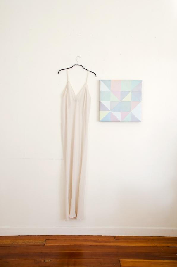 Diamanda Dress with work by Andrew Barber