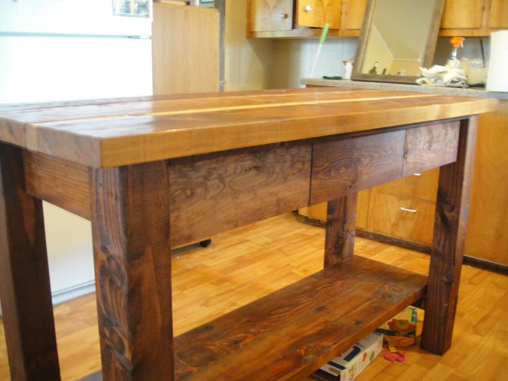 Reclaimed Wood Kitchen Island | posted by Back Woods Wood...