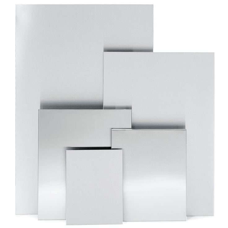 Muro Magnetic Memo Board in Stainless Steel, Gray