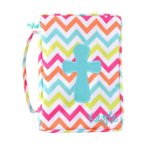 Personalized bible cover in chevron print by MonogramEnvyBoutique