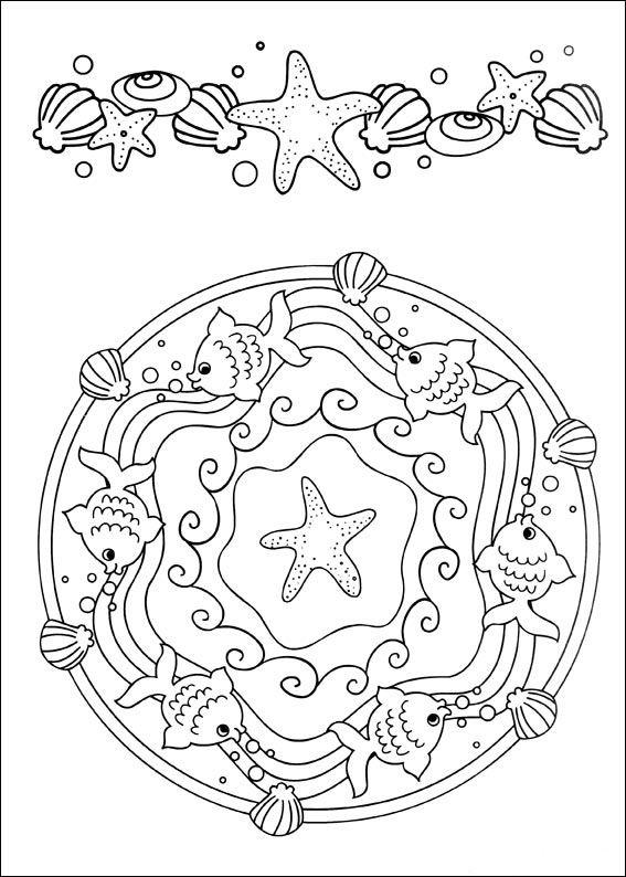 Disegni da Colorare Mandalas 19