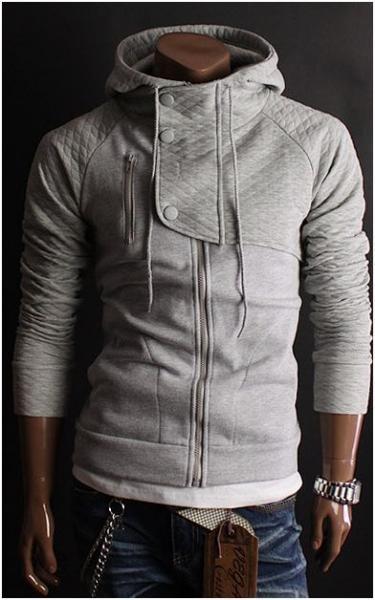 Quilt Hood Jacket Grey - Rockdenim - $699nok