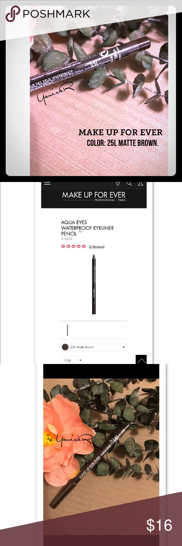 NWT (sealed) MAKE UP FOR EVER Eyeliner Waterproof !!NEW WITH TAG AND COMPLET SEALED ¡¡.                                     EYELINER by @MAKE UP FOR EVER ✅COLOR L25 Matte Brown.   💯recommended.                                              ‼️A long-wearing, waterproof eye pencil that pairs ultra-creamy glide with instant color intensity.                     ✅available in more colors!!!                                               ‼️MAKE A BUNDLE AND I WILL GIVE YOU A PRIVATE DISCOUNT‼️…