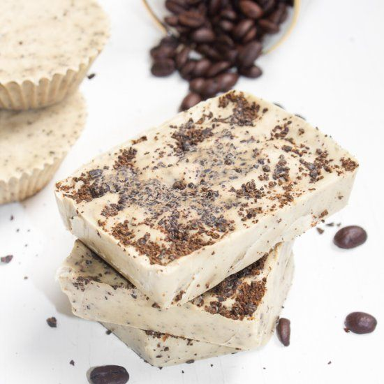 Make homemade Coffee Mint Soap Bars, they are easy and smell luxurious.