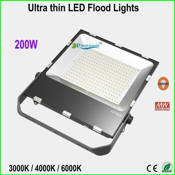 2016 new Slim LED Flood light 200w IP65 high lumen Super Bright LED Parking lot Lighting Utra thin flood light DHL free shipping