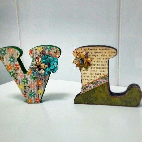 Scrapbooking letras
