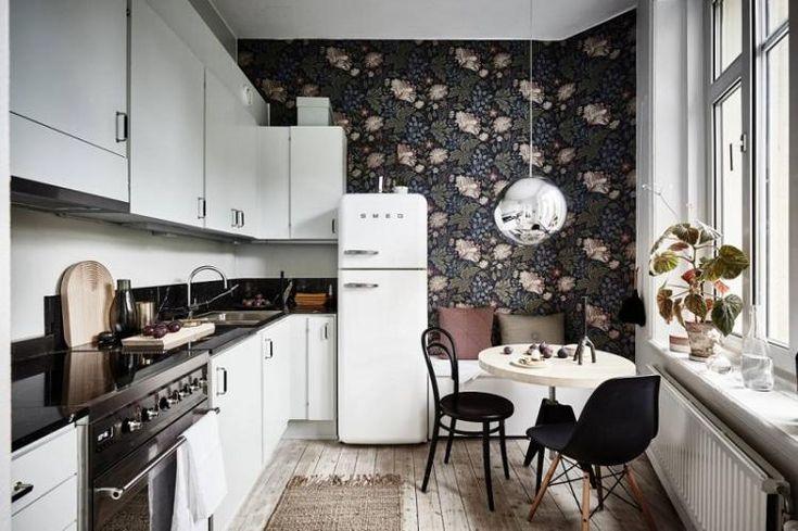 Обои для кухни - 90 фото, красивые идеи дизайна, как ...