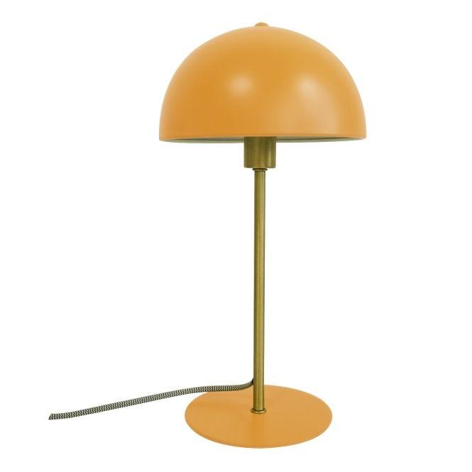 Leitmotiv Table Lamp Bonnet Yellow Gold 70s Revival