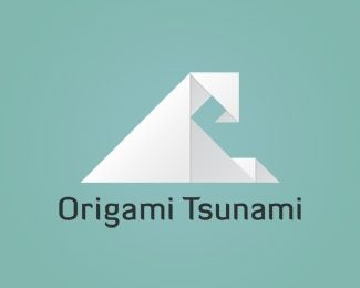 "Origami Tsunami Logo design - Origami Tsunami!! Clothing Company, Surf Shop, Eco-Friendly website, etc. This is a powerful brand and is very flexible to work with just about anything. The ultimate combination of relaxation and a dominant force of nature. The ""calm before the storm"" if you will. Minor adjustments to logo, font, colors, etc. can be made for sale price. Make me an offer! Price $375.00"