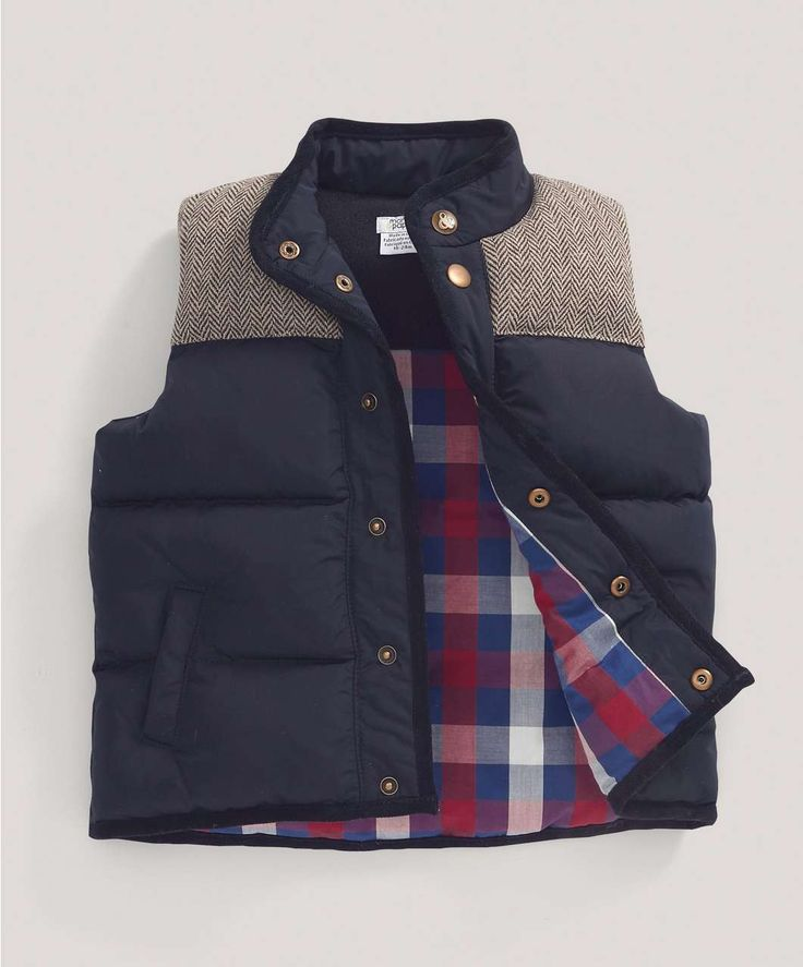 Boys Fashion Tweed Mix Gilet - Jackets   Pramsuits - Mamas & Papas
