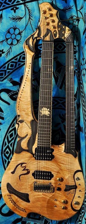 Michele Benincaso  Shyama Trikanta Harp Guitar / BaglamaPrim thing --- https://www.pinterest.com/lardyfatboy/
