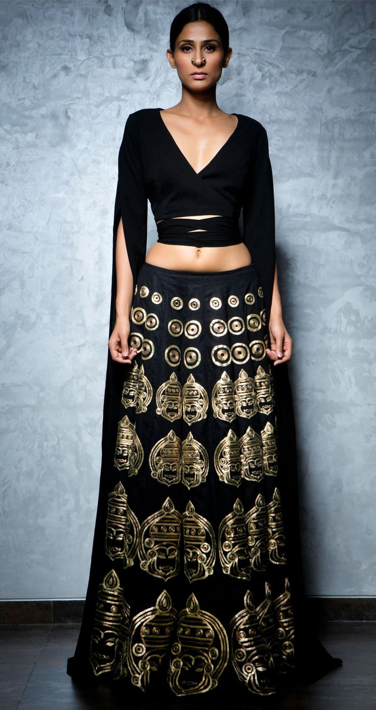 Nikhil Thampi From Lakme Fashion Week Winter Festive 2013 Runway Fashion Pinterest Black
