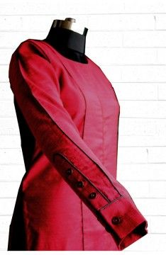 Long kurta - tunic:  The Luxury Label's Claret Collection for #indianofficewear #indianworkwear #Indianofficefashion #indianformals