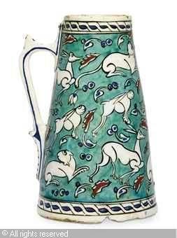 IZNIK CERAMIC, 16 > (Turkey) Title : TANKARD Date : ca 1570 TANKARD sold by Christie's, London, on Thursday, October 06, 2011