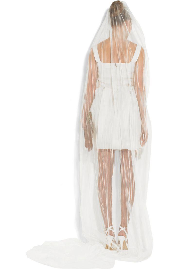 111 Best Images About Short Dress Long Veil On Pinterest