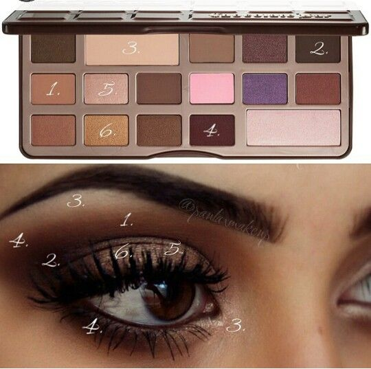 Pictorial for the chocolate bar palette #toofaced