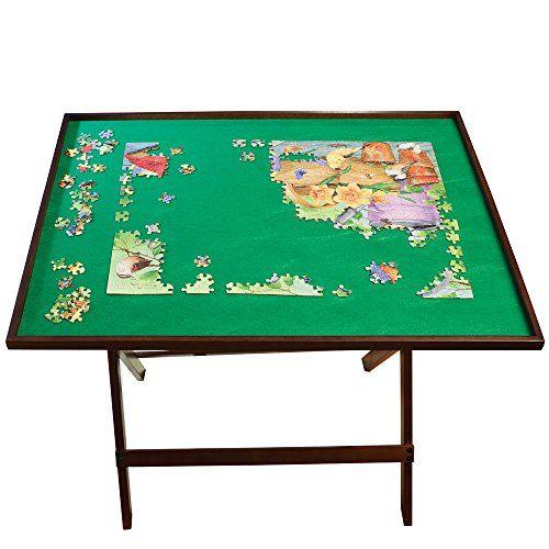 Bits And Pieces U2013 Foldaway Jigsaw Puzzle Table U2013 Set Up Puzzle Fun Anywhere  U2013 Folds