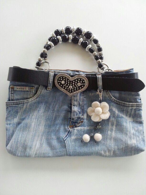 Borsa con riciclo jeans