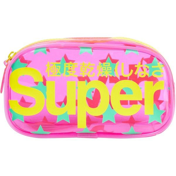 Superdry Stars Neon Bag (44 PEN) ❤ liked on Polyvore featuring bags, handbags, superdry, pink purse, star handbag, superdry bags and neon pink bag