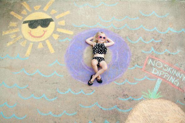 Sidewalk Chalk scene picture