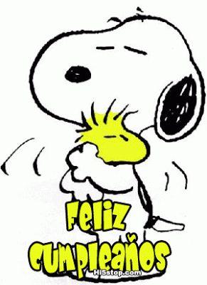Snoopy y Emilio abrazo