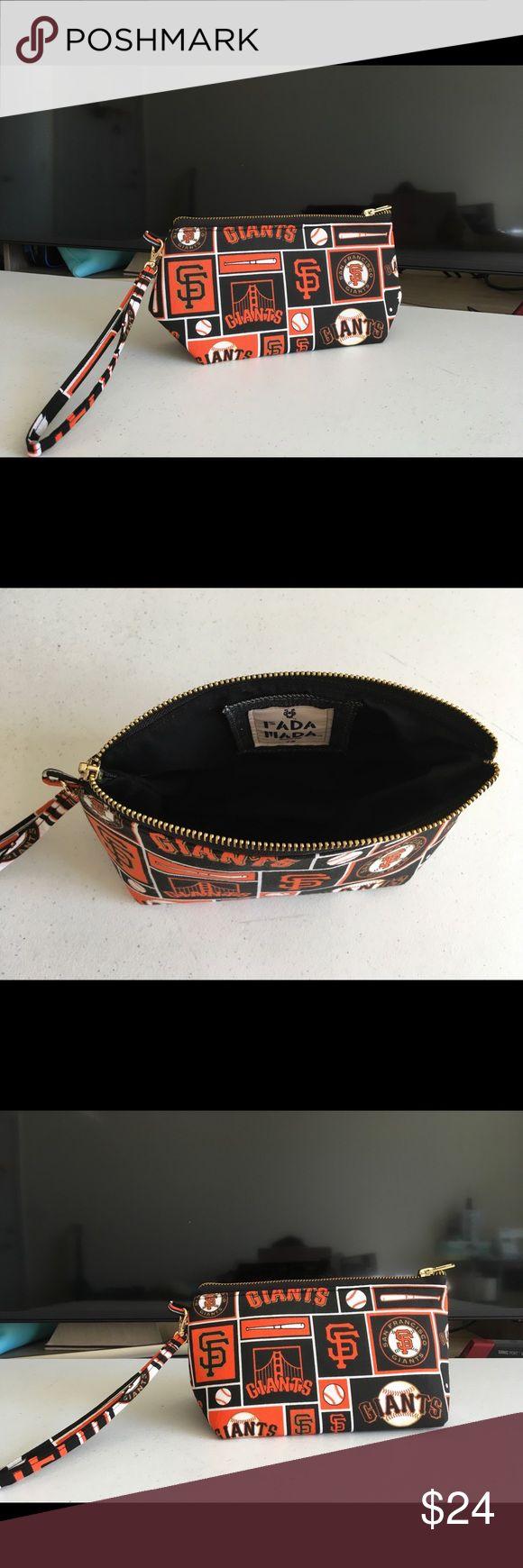 SF GIANTS baseball sports elegant cosmetic bag Ultra firm Wallet Detachable sling FADA MADA Bags Cosmetic Bags & Cases