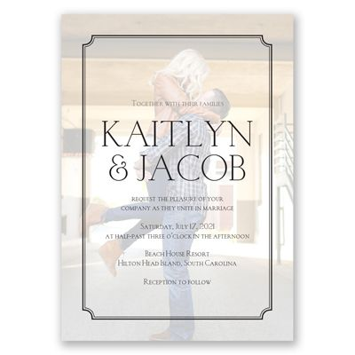 Immersed In Love   Photo Wedding Invitation   Modern, Contemporary At  Invitations By Davidu0027s Bridal