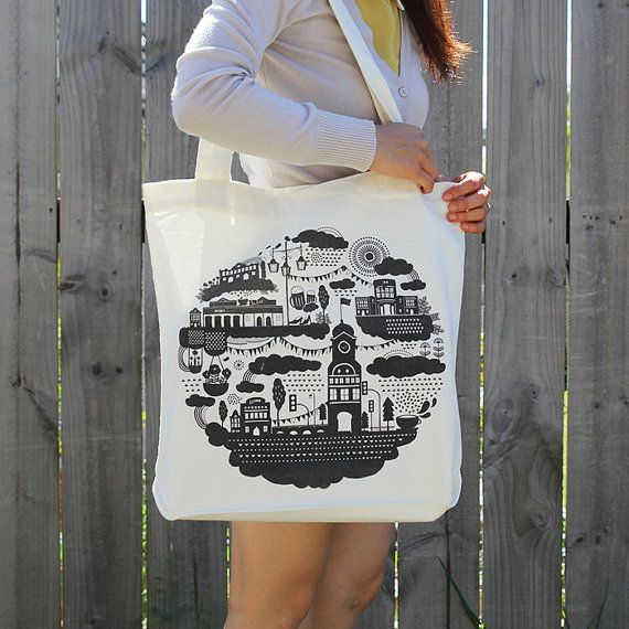 Little Ponsonby. Canvas tote bag. by ReneeChin on Etsy