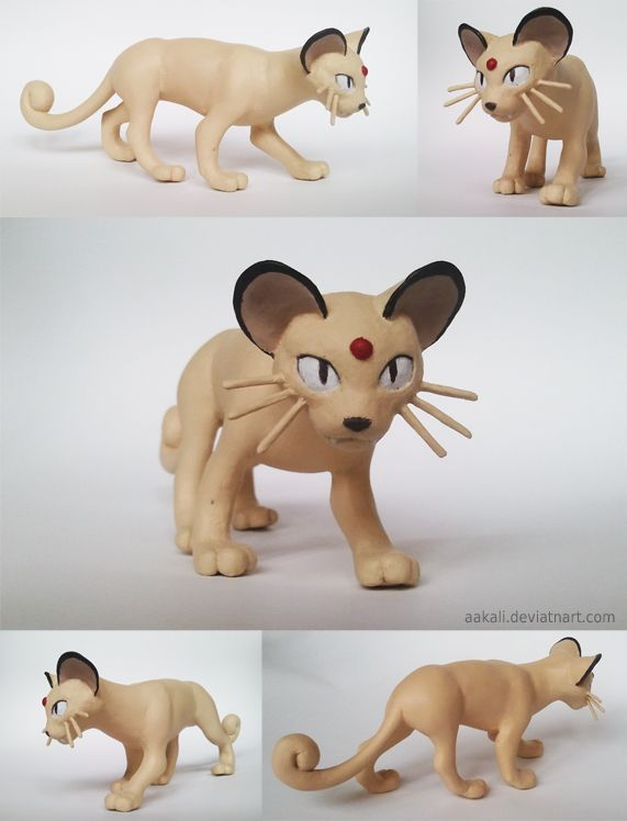 Pokemon Persian Sculpture by *Aakali on deviantART